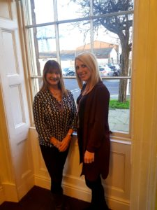 Tracey Mitchell, team manager and Susie Kaylor, team administrator.